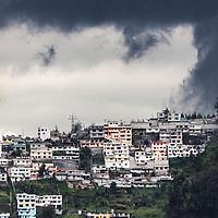 A hillside neighbourhood in Quito, Ecuador.