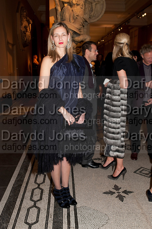 CANDIDA GERTLER, Outset dinner 2011.  Organised by Yana Peel supported by Swarovskito raise funds for the V+A to starts its contemporary design collection. V & A. London. 23 March 2011. -DO NOT ARCHIVE-© Copyright Photograph by Dafydd Jones. 248 Clapham Rd. London SW9 0PZ. Tel 0207 820 0771. www.dafjones.com.
