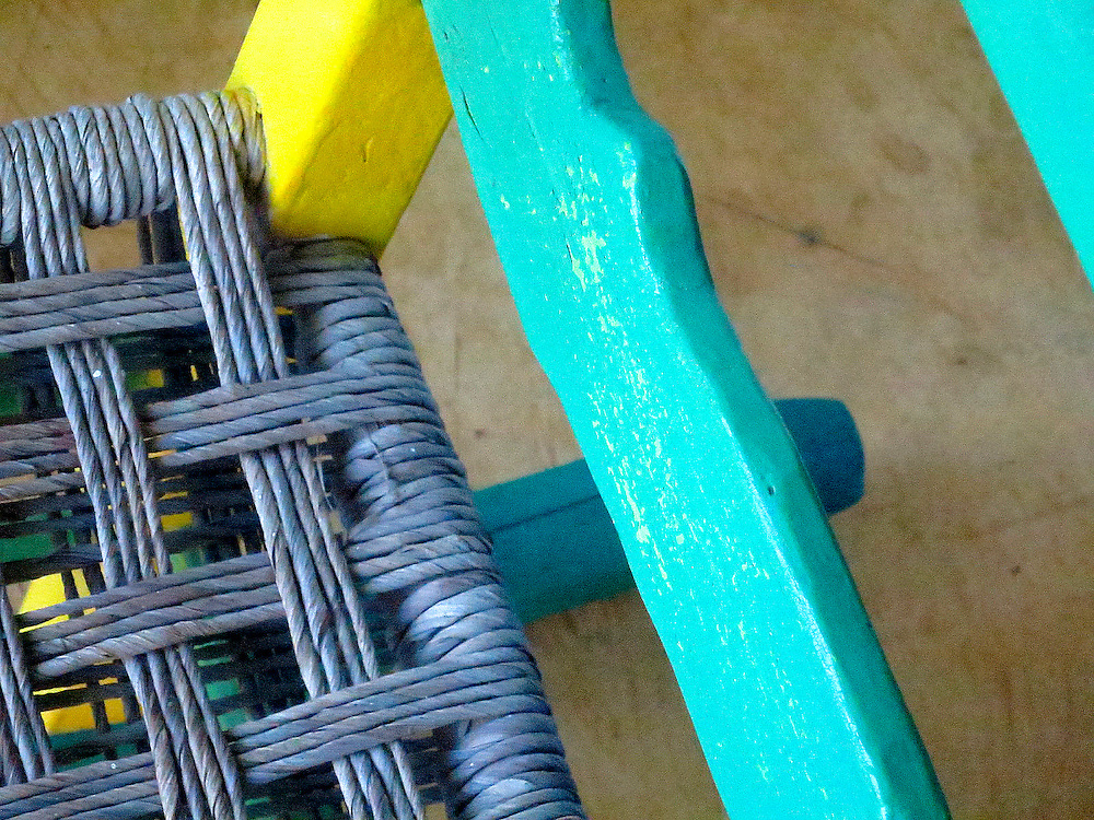 Patio chair - rushed seat - Casas del Mar Neptunia, Las Terrenas, Semana Peninsula.