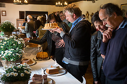 Visitors during first competition for best potica at Otocec castle, on April  13th, 2017 in Otocec, Slovenia. Photo by Martin Metelko / Sportida
