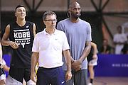 Kobe Bryant Mario Fioretti - Clinic con Kobe Bryant e Ettore Messina, mamba mentality tour 2016, 22/07/2016, Milano. Foto Fip/Ciamillo