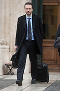 2013/03/28 Roma, parlamentari in piazza Montecitorio. Nella foto Alessio Tacconi.<br /> Rome, politicians in Montecitorio Square. In the picture Alessio Tacconi - &copy; PIERPAOLO SCAVUZZO