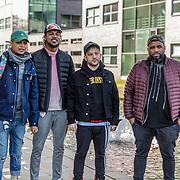 NLD/Hilversum//20170321 - Rappers Achter De Tralies, Ronnie Flex, Willie Wartaal, Mr Polska en Bokoesam