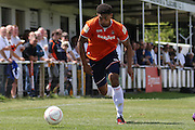 Luton Town's Curtley Williams during the Pre-Season Friendly match between Peacehaven & Telscombe and Luton Town at the Peacehaven Football Club, Peacehaven, United Kingdom on 18 July 2015. Photo by Ellie Hoad.