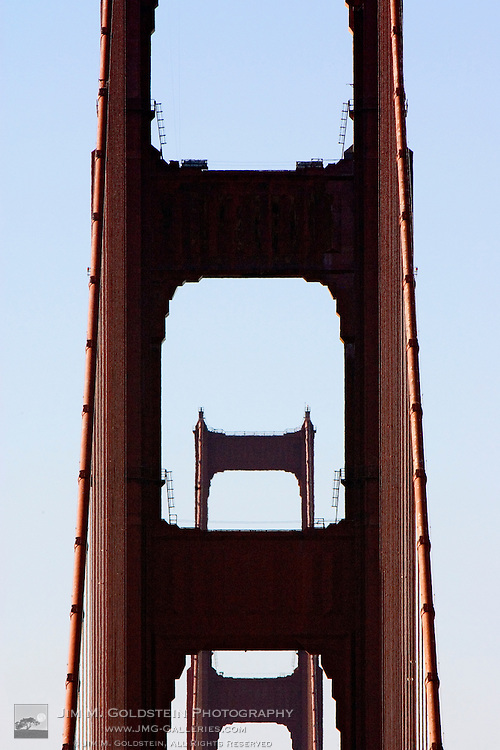 View of the Golden Gate Bridge and the Marin Headlands from San Francisco