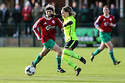 Brighton's Charlotte Gurr during the FA Women's Premier League match between Coventry United Ladies and Brighton Ladies at Bedford United FC, Bedford, United Kingdom on 21 February 2016. Photo by Shane Healey.