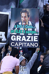 20.05.2012, Stadio Olympico, Rom, ITA, TIM Cup, Juventus Turin vs SSC Neapel, Finale, im Bild striscioni per Alessandro Del Piero // during the final football match of Italian TIM Cup between Juventus Turin and SSC Neapel at Stadio Olympico, Rome, Italy on 2012/05/20. EXPA Pictures © 2012, PhotoCredit: EXPA/ Insidefoto/ Paolo Nucci..***** ATTENTION - for AUT, SLO, CRO, SRB, SUI and SWE only *****