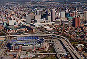 Baltimore MD aerial view, of M&T Bank Stadium, home of the Baltimore Ravens