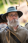 A Civil war re-enactor during a memorial service at Elmwood Cemetery to mark Confederate Memorial Day May 2, 2015 in Columbia, SC. Confederate Memorial Day is a official state holiday in South Carolina and honors those that served during the Civil War.