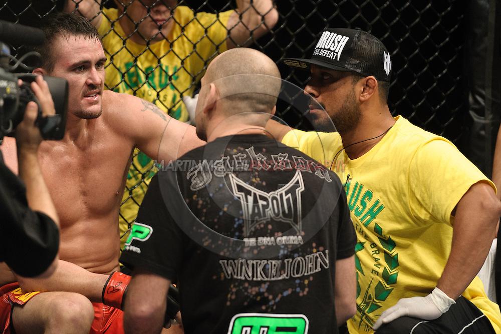 OBERHAUSEN, GERMANY, NOVEMBER 13, 2010: Kyle Noke during UFC 122 inside the Konig Pilsner Arena in Oberhausen, Germany.