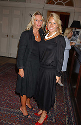 Left to right, LADY BAMFORD and her daughter ALICE BAMFORD  at the London Dog Parade, an auction of fibreglass dog sculptures designed by the rich and famous held at the In & Out Club, St.James's Square London on 14th September 2005.  Proceeds from the sale went to Battersea Dogs & Cats Home.<br />