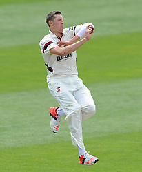 Somerset's Craig Overton Photo mandatory by-line: Harry Trump/JMP - Mobile: 07966 386802 - 27/05/15 - SPORT - CRICKET - LVCC County Championship - Division 1 - Day 4 - Somerset v Yorkshire - The County Ground, Taunton, England.