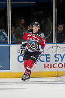 KELOWNA, CANADA - OCTOBER 7: Rourke Chartier #14 of Kelowna Rockets skates against the Swift Current Broncos on October 7, 2014 at Prospera Place in Kelowna, British Columbia, Canada.  (Photo by Marissa Baecker/Getty Images)  *** Local Caption *** Rourke Chartier;