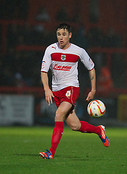 STEVENAGE, ENGLAND - Saturday, November 24, 2012: Stevenage's Greg Tansey in action against Tranmere Rovers during the Football League One match at Broadhall Way. (Pic by David Rawcliffe/Propaganda)