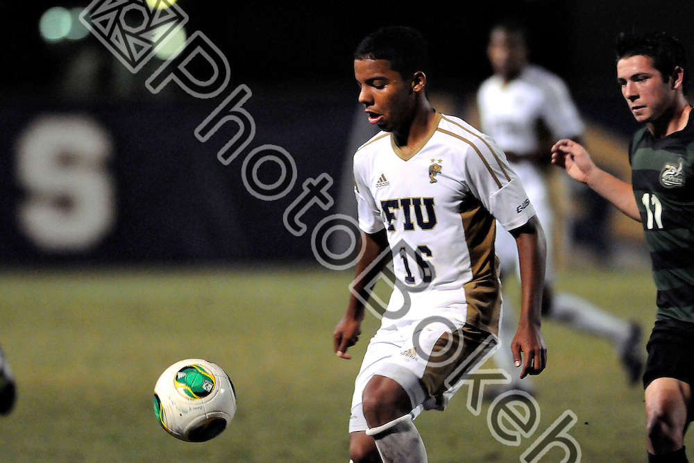 2013 November 08 - FIU's Ismael Longo (16).   <br /> Florida International University fell to Charlotte, 3-0, at FIU Soccer Field, Miami, Florida. (Photo by: www.photobokeh.com / Alex J. Hernandez) This image is copyright PhotoBokeh.com and may not be reproduced or retransmitted without express written consent of PhotoBokeh.com. &copy;2013 PhotoBokeh.com - All Rights Reserved