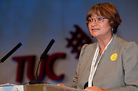Christine Blower,  NUT General Secretary, speaking at the Trades Union Congress 2010, Manchester.