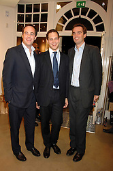Left to right, LORD BUCKHURST, LORD FREDERICK WINDSOR and FRITZ VON WESTENHOLZ at a party to celebrate the launch of Diesel's new mens & womens fragrances 'Fule for Life' at their newly reopened store on the Kings Road, London on 13th September 2007.<br /><br />NON EXCLUSIVE - WORLD RIGHTS