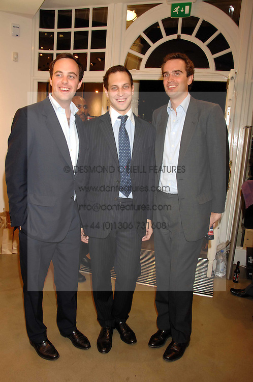 Left to right, LORD BUCKHURST, LORD FREDERICK WINDSOR and FRITZ VON WESTENHOLZ at a party to celebrate the launch of Diesel's new mens &amp; womens fragrances 'Fule for Life' at their newly reopened store on the Kings Road, London on 13th September 2007.<br />