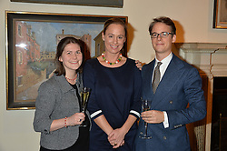 LONDON, ENGLAND 28 NOVEMBER 2016: Left to right, Antonia Plettenberg, Camilla Nitsche and Wolf Burchard at a reception to celebrate the publication of The Sovereign Artist by Christopher Le Brun and Wolf Burchard held at the Royal Academy of Art, Piccadilly, London, England. 28 November 2016.