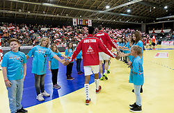02.11.2016, Arena Nova, Wiener Neustadt, AUT, EHF, Handball EM Qualifikation, Österreich vs Finnland, Gruppe 3, im Bild Einlauf von Österreich// during the EHF Handball European Championship 2018, Group 3, Qualifier Match between Austria and Finland at the Arena Nova, Wiener Neustadt, Austria on 2016/11/02. EXPA Pictures © 2016, PhotoCredit: EXPA/ Sebastian Pucher