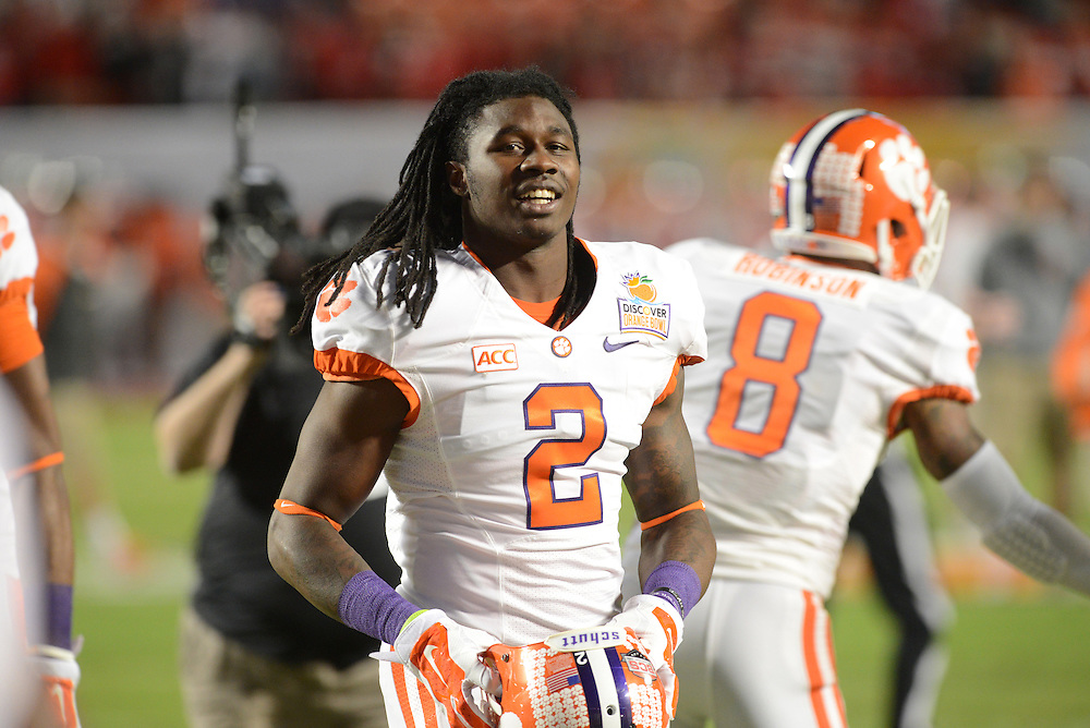 January 3, 2014: Sammy Watkins #2 of Clemson warms up before the NCAA football game between the Clemson Tigers and the Ohio State Buckeyes at the 2014 Orange Bowl in Miami Gardens, Florida.