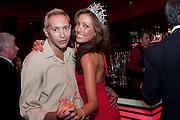 CHARLES SVINGHOLM;; SOPHIE GRADON, Miss Great Britain - anniversary event. The Red Room, Les Ambassadeurs Club, 5 Hamilton Place, London W1 18 August 2010. -DO NOT ARCHIVE-© Copyright Photograph by Dafydd Jones. 248 Clapham Rd. London SW9 0PZ. Tel 0207 820 0771. www.dafjones.com.