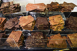 Chocolate for sale at The Chocolate Show, at Olympia in Kensington, London.  Picture date: Friday October 13th, 2017. Photo credit should read: Matt Crossick/ EMPICS Entertainment.