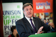 UNISON's Labour Link Forum 2011 held in the Marriott Hotel in Liverpool, UK..Photo shows The Rt Hon. Ed Balls MP, Shadow Chancellor speaking.