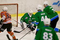 KRISTAN Robert of HK SZ Olimpija during hockey match between HK SZ Olimpija (SLO) and Rittner Buam (ITA) in 1st round of Alps Hockey League 2017/18, on September 13, 2017 in Tivoli, Ljubljana, Slovenia. Photo by Urban Urbanc / Sportida