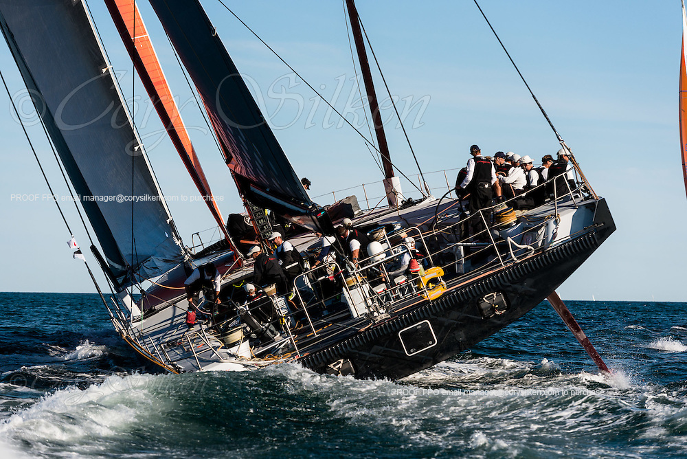 Comanche sailing in the Newport Bermuda Race.
