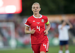NEWPORT, WALES - Thursday, August 30, 2018: Wales' captain Sophie Ingle in action during the FIFA Women's World Cup 2019 Qualifying Round Group 1 match between Wales and England at Rodney Parade. (Pic by Laura Malkin/Propaganda)