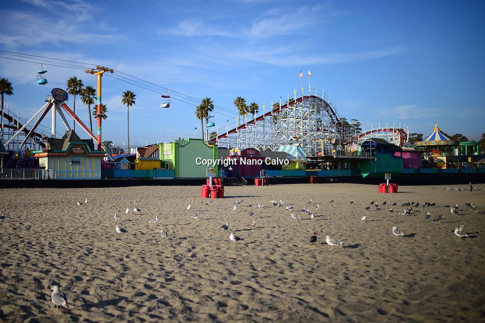 Iconic amusement park in Santa Cruz State beach, California.