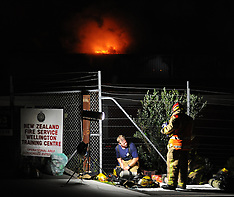 Wellington-Fire destroys Kiwi Self Storage at Kilbirnie