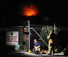 Wellington-Fire destroys Kiwi Self Storage at Kilbirnie