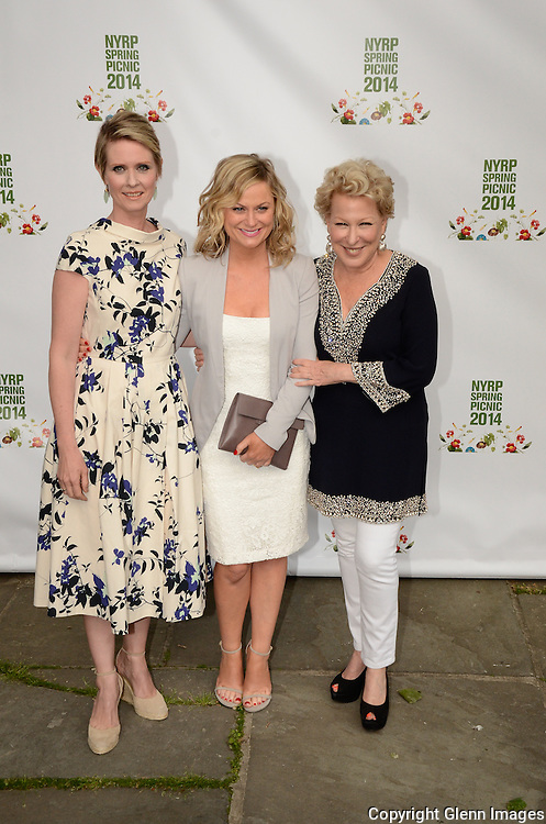 05/29/14 New York City ,  / Cynthia Nixon, Amy Poehler, Bette Midler at Bette Midler's NYRP 13th Annual Spring Picnic /