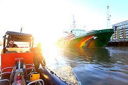 UK ENGLAND LONDON 18NOV16 - The Greenpeace ship Esperanza lies moored next to Tower Bridge in central  London.<br /> <br /> jre/Photo by Jiri Rezac<br /> <br /> &copy; Jiri Rezac 2016