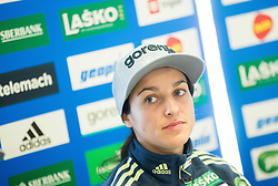 Maja Vtic during press conference of Slovenian Ski jumping Women team before new season 2015/16, on December 1, 2015 in Cristal palace, BTC, Ljubljana, Slovenia. Photo by Vid Ponikvar / Sportida