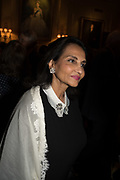NAZLI JAFFERJEE;, Launch hosted by Quartet books  of Madam, Where Are Your Mangoes? by Sir Desmond de Silva at The Carlton Club. London. 27 September 2017.