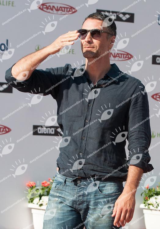 Raoul Bova<br /> 50 Settecolli Trofeo Internazionale di nuoto 2013<br /> swimming<br /> Roma, Foro Italico  12 - 15/06/2013<br /> Day03 finali finals<br /> Photo Giorgio Scala/Deepbluemedia/Insidefoto