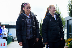 Kirtsten Reilly and Meaghan Sargeant of Bristol City arrives at SGS College Stoke Gifford Stadium prior to kick off - Mandatory by-line: Ryan Hiscott/JMP - 29/09/2019 - FOOTBALL - SGS College Stoke Gifford Stadium - Bristol, England - Bristol City Women v Chelsea Women - FA Women's Super League