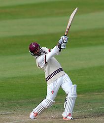 Somerset's Peter Trego drives the ball. - Photo mandatory by-line: Harry Trump/JMP - Mobile: 07966 386802 - 06/07/15 - SPORT - CRICKET - LVCC - County Championship Division One - Somerset v Sussex- Day Two - The County Ground, Taunton, England.