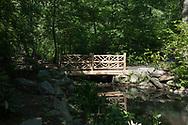 Rustic bridge in the Ramble of Central Park