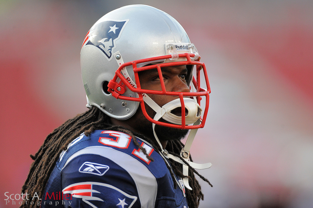 New England Patriots safety Brandon Meriweather (31) during the Pats game against the Tampa Bay Buccaneers at Raymond James Stadium on Aug. 18, 2011 in Tampa, Fla...©2011 Scott A. Miller.