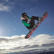 Steve Krijbolder, The Netherlands, in action during the Men's Half Pipe Qualification in the LG Snowboard FIS World Cup, during the Winter Games at Cardrona, Wanaka, New Zealand, 27th August 2011. Photo Tim Clayton....