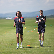 Dundee&rsquo;s Yordi Teijsse and Craig Wighton  -  Dundee FC pre-season training at Dundee University Grounds, Riverside<br /> <br />  - &copy; David Young - www.davidyoungphoto.co.uk - email: davidyoungphoto@gmail.com