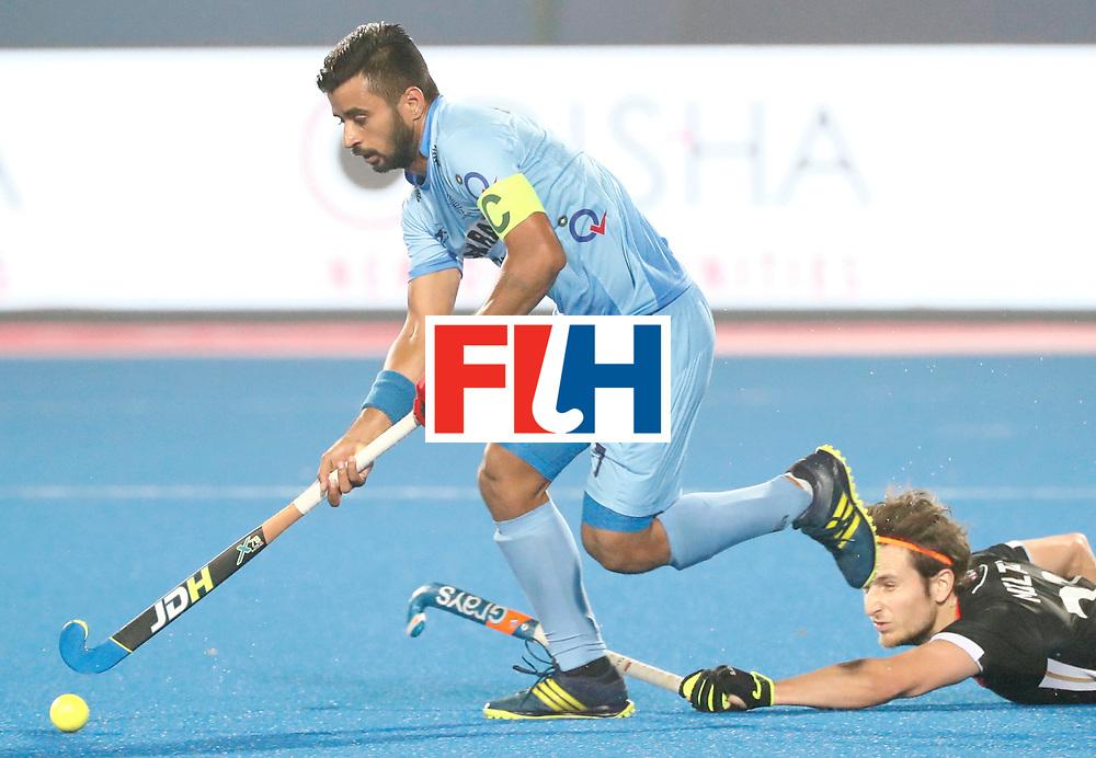 Odisha Men's Hockey World League Final Bhubaneswar 2017<br /> Match id:10<br /> India v Germany<br /> Foto: Manpreet Singh (Ind) <br /> COPYRIGHT WORLDSPORTPICS KOEN SUYK