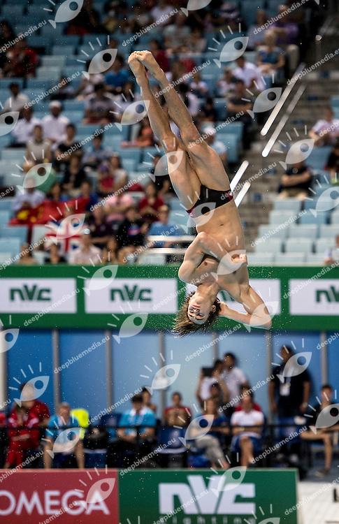 GAGNE Philippe CAN<br /> FINA/NVD Diving World Series - 3 m. sprinboard Women<br /> Hamdan Bin Rashid Bin Mohammed Sport Complex<br /> Dubai 19 - 21  March 2015<br /> Day 2 - March 20 th <br /> Photo Giorgio Scala / Deepbluemedia