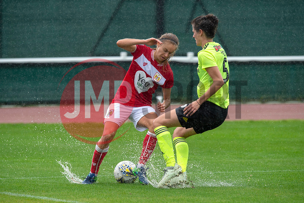 Katie Rood of Bristol City battles with Danielle Cox of Sheffield United Women - Mandatory by-line: Paul Knight/JMP - 26/08/2018 - FOOTBALL - Stoke Gifford Stadium - Bristol, England - Bristol City Women v Sheffield United Women - Continental Tyres Cup