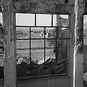 A view from a window within the main building at Tarnak Farms, the al Qaeda base, training camp and pre 9/11 al Qaeda headquarters in Kandahar, Afghanistan which served as a home to Osama Bin Laden and numerous al Qaeda fighters located outside Kandahar City. It is believed that this base was where the plan for the 9/11 attacks originated, as a result Tarnak Farms was heavily bombed by the United States after September 11, 2001. (Credit Image: © Louie Palu/ZUMA Press)