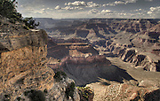 Grand Canyon National Park - Arizona. Dramatic Storm  clouds, red sandstone buttes.
